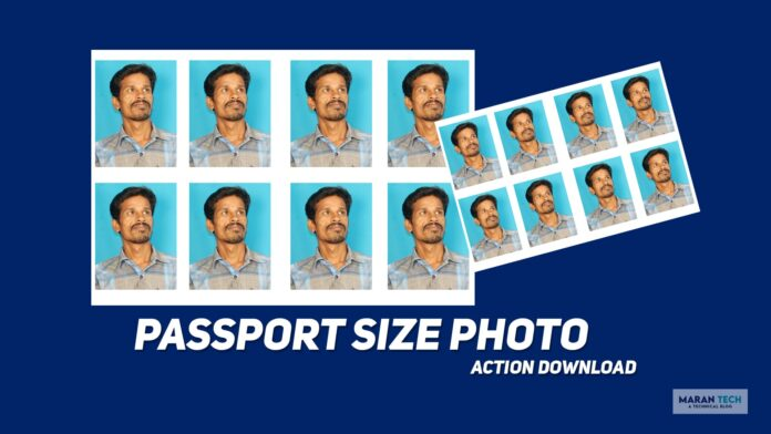 passport size photo action free download