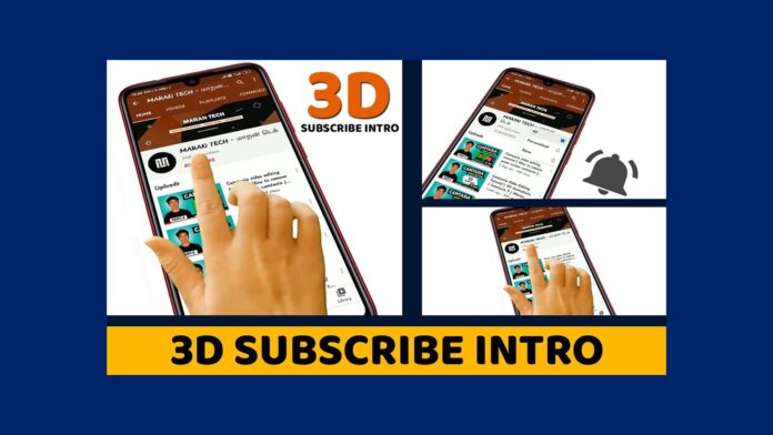 3d subscribe intro template free download