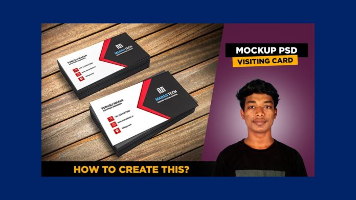 3d visiting card psd free download