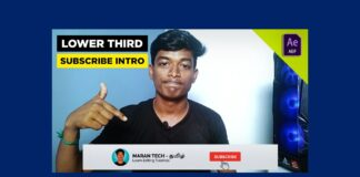 lower third subscribe intro after effects template download