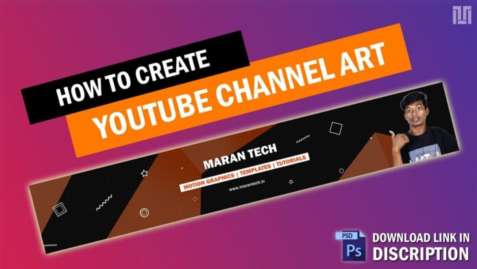 youtube channel art psd free download